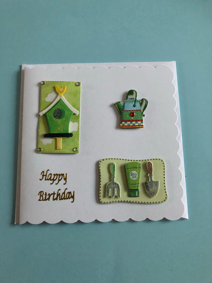 Gardening themed birthday card