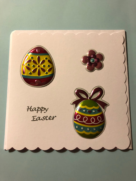 Easter egg card with flower