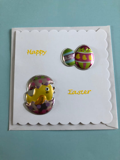 Easter Card with eggs.