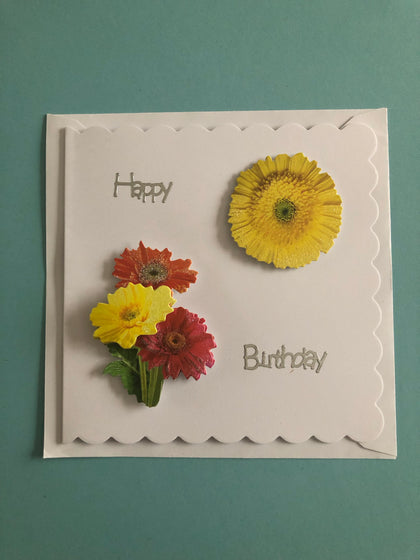 Women's flower themed birthday card