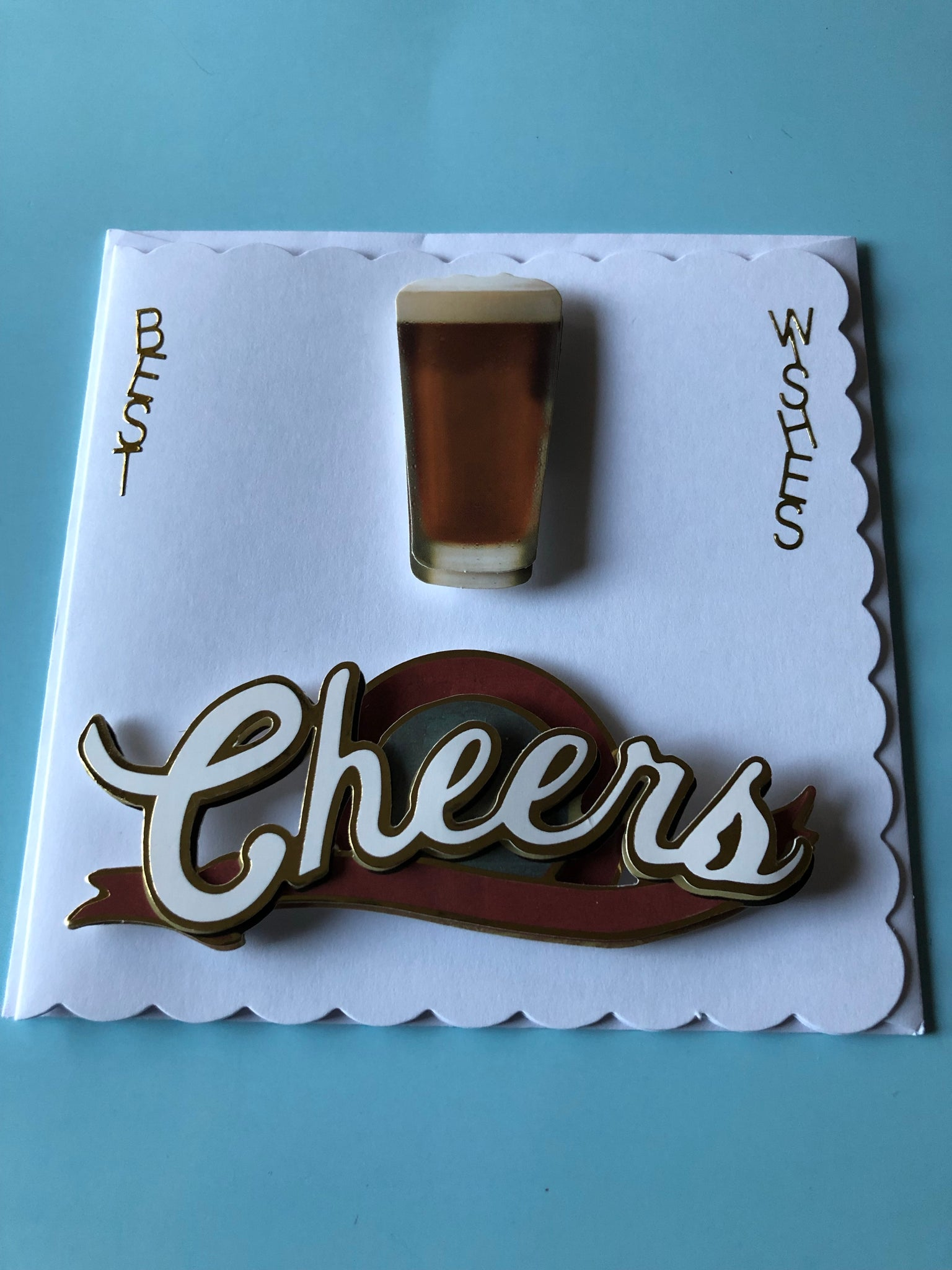 Men's beer and cheers card