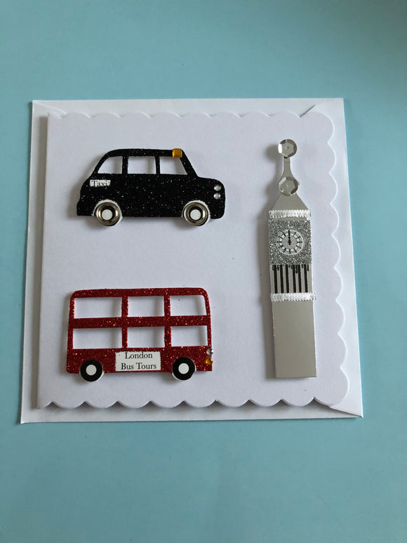 London themed birthday card