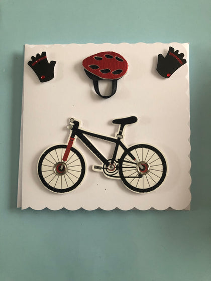 Bike themed blank card