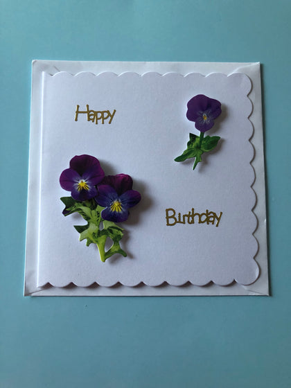 Women's flower card for birthday