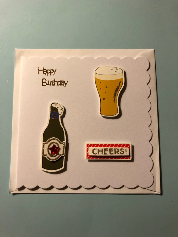 Men's beer theme birthday card