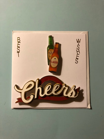 Men's beer birthday card