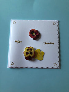 Birthday card with 3D flowers