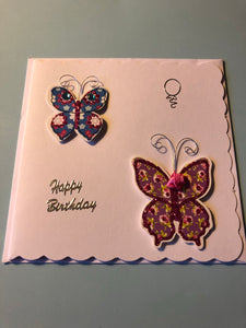 Women's Birthday card with butterflies