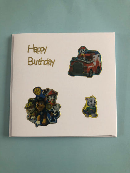 Children's paw patrol card
