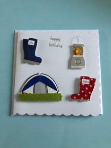 Camping themed Birthday card