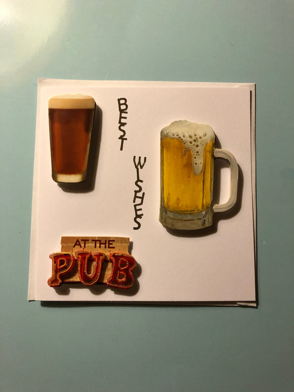 Men's at the pub Birthday Card