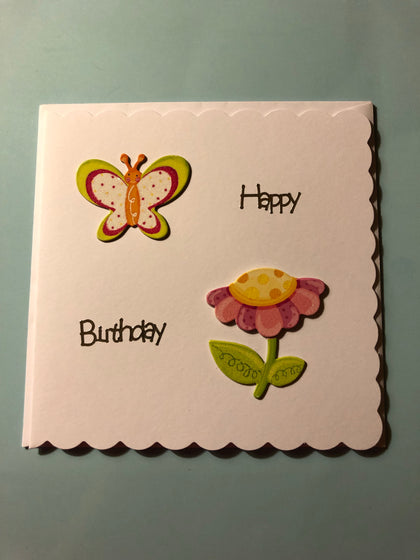 Women's flower/Birthday card