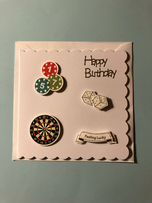 Men's games birthday card