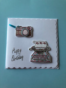 Women's technology themed birthday card