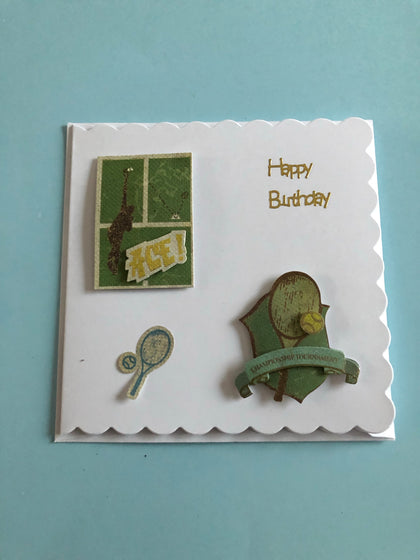 Tennis Themed Birthday Card