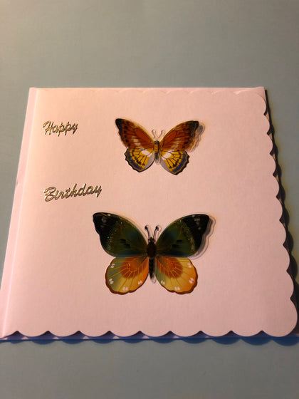 Women's butterfly birthday card