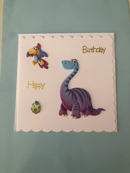 Dinosaur themed birthday card