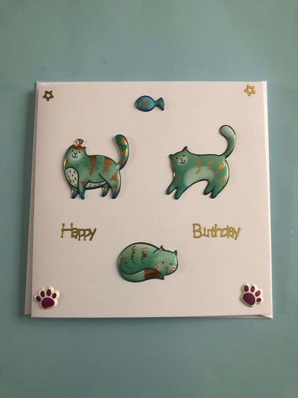 Cat themed Birthday card