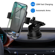 ROBOQI® X - 10W Qi Smart Sensor Wireless Car Charger Mount - InvisibleTech