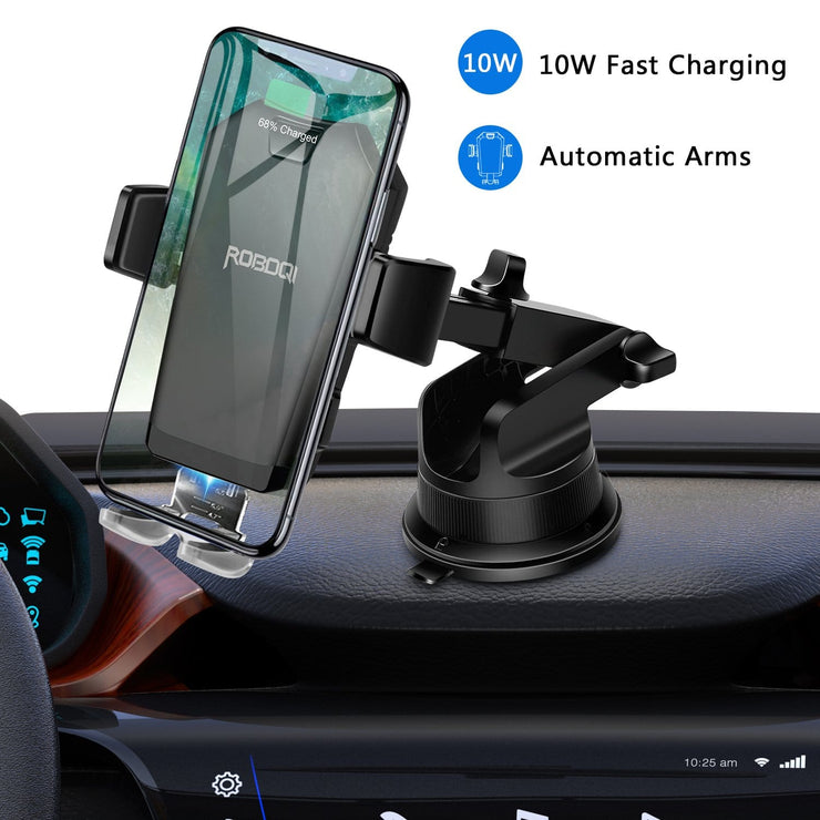 ROBOQI® X - 10W Qi Wireless Charger Car Mount (Free Shipping)