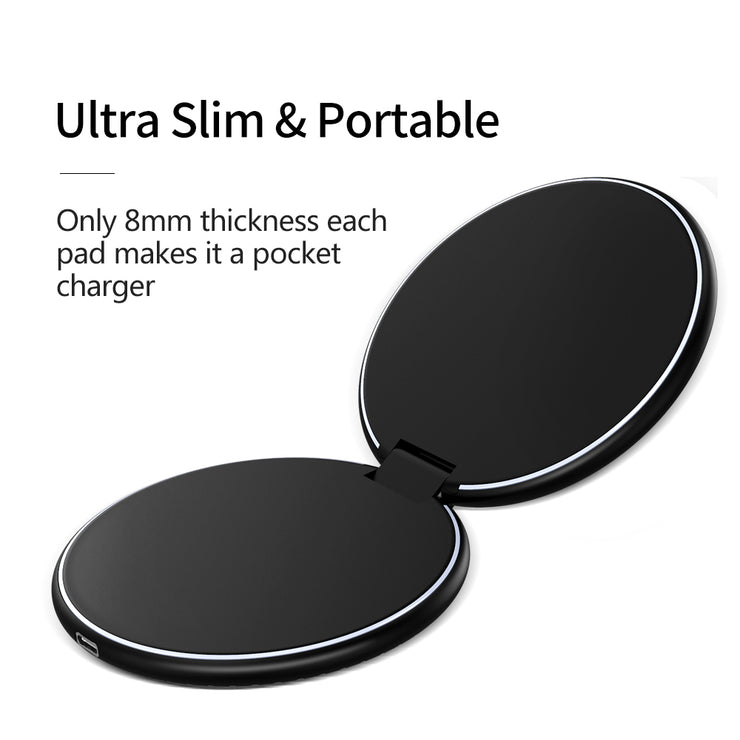 World's 1st Foldable Dual 10W Fast Wireless Charger