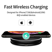 Geminipad- Foldable Dual Qi Wireless Charger - InvisibleTech