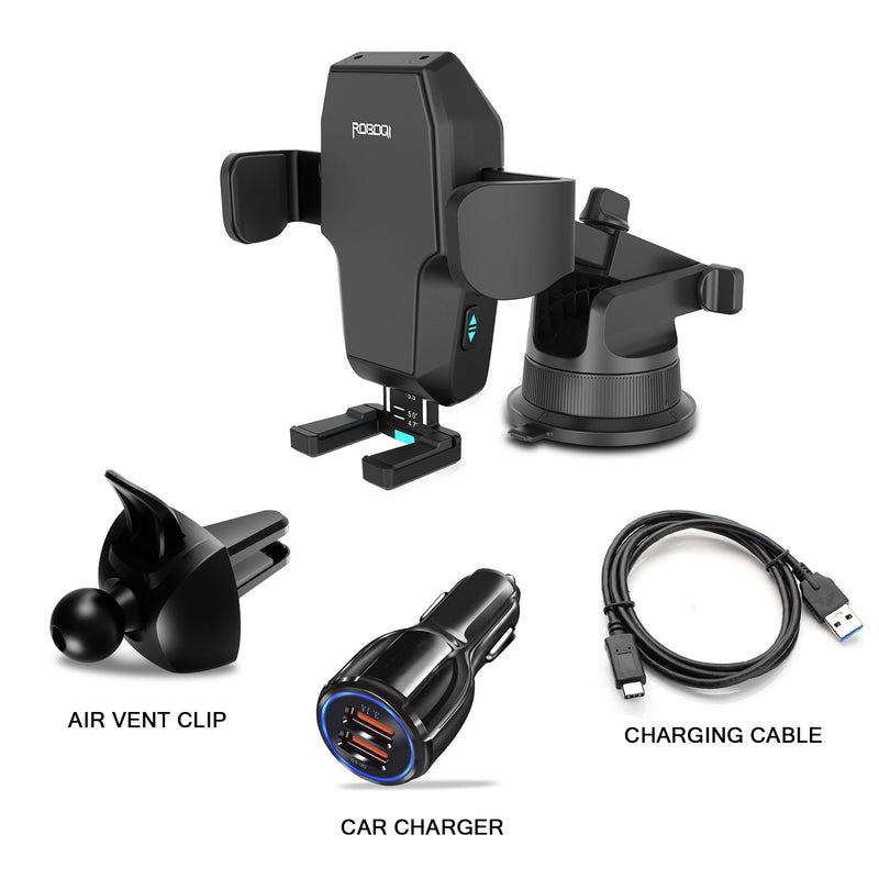 ROBOQi 2 with Alexa Built-in Wireless Charging Car Mount