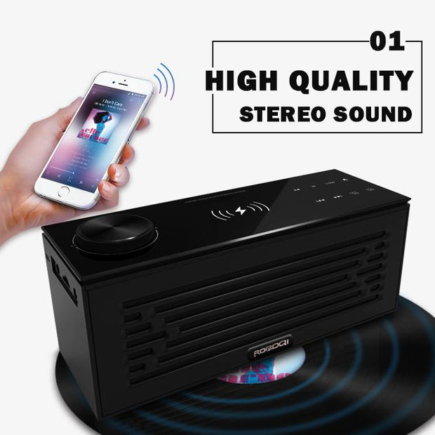 ROBOQI H2 Bluetooth Speaker with 12 Features - InvisibleTech