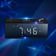 QI Wireless Charging Alarm Clock FM LED Touch Screen Bluetooth Speaker Premium Stereo Sound
