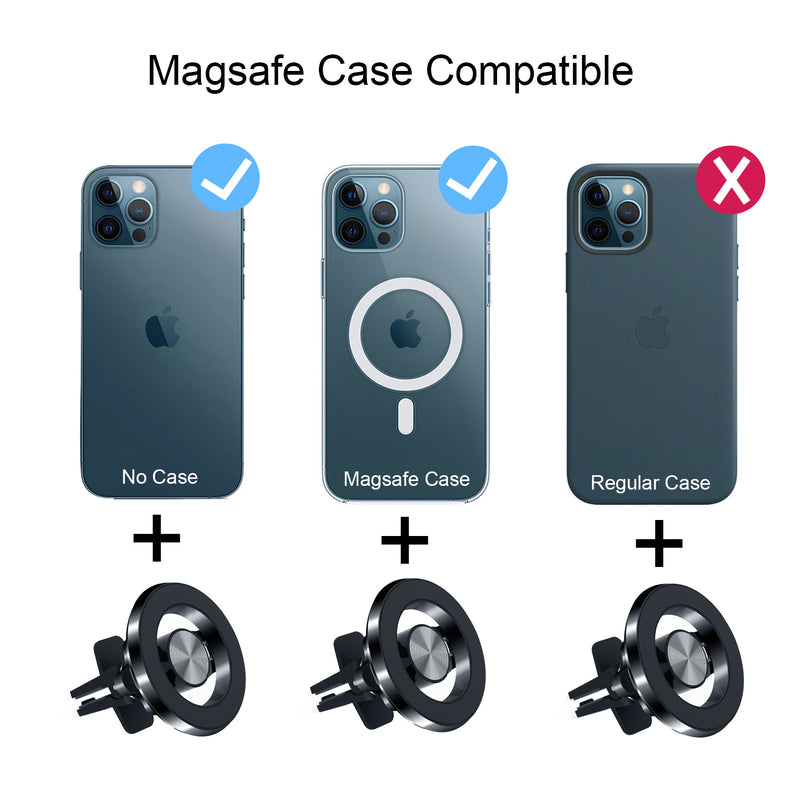 ROBOQi Magnetic Car Mount Premium Aluminum Design for iPhone 12 Compatible with MagSafe
