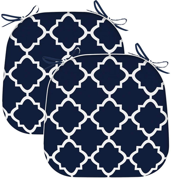 EAGLE PEAK Indoor Outdoor Seat Cushion with Ties, Decorative Chair Pads for Office Decoration Patio Garden Furniture Home Chair Cushions, 16x17 inch,