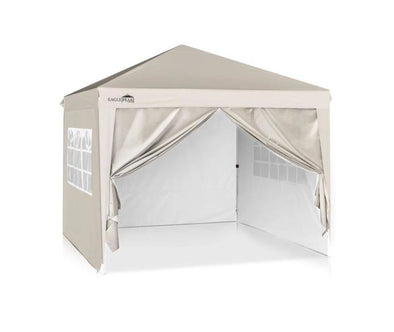 EAGLE PEAK 10' x10' Pop Up Canopy Tent with 4 Side Walls, Fully Waterproof, Easy Set up Shelter with 100 Square Feet of Shade