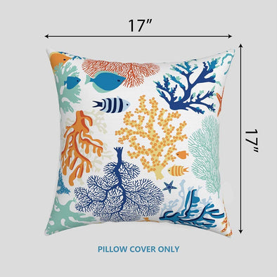 EAGLE PEAK Indoor/Outdoor Square Throw Pillow Covers 17 x 17 Inch (Set of 2)