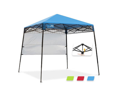 EAGLE PEAK Day Tripper 8' x 8' Slant Leg Lightweight Compact Portable Canopy w/ Backpack Easy Set-up (36 sqft of Shade)