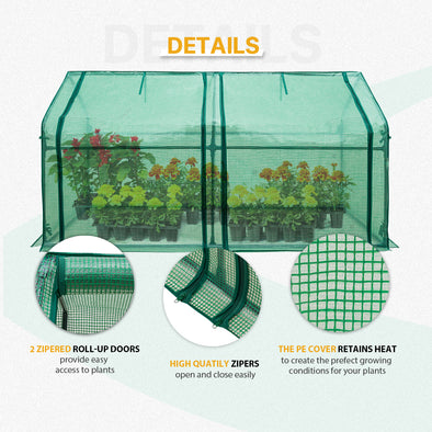 EAGLE PEAK Mini Garden Portable Greenhouse 71'' x 36'' x 36''