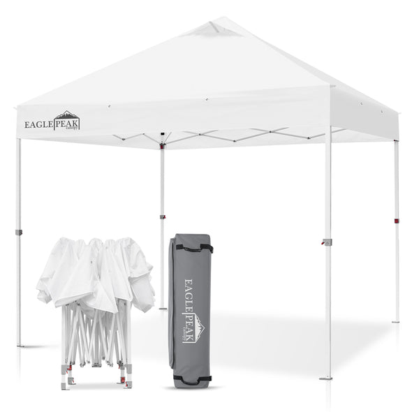 EAGLE PEAK 10' x 10' Commercial Canopy Tent with 100 Square Feet of Shade (White)