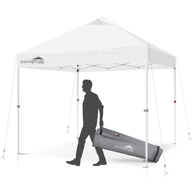 EAGLE PEAK 10' x 10' Commercial Canopy Tent with 100 Sqft of Shade (White)