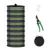EAGLE PEAK 2ft Collapsible Mesh Herb Drying Rack Hanging DryNet Hydroponics w/ Green Zipper, Includes Garden Scissors