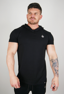 The Hooded T - Black