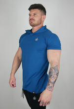 Load image into Gallery viewer, The Hooded T - Peacock Blue LIMITED EDITION
