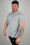 The Hooded T - Grey Marl