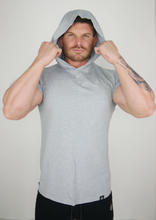 Load image into Gallery viewer, The Hooded T - Grey Marl