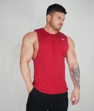 The 'Smooth' Sleeveless - Red Hot