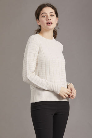 Alabaster Ladies Merino Textured Jumper