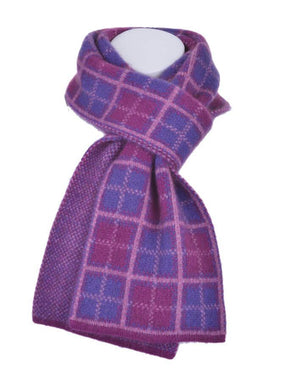 Berry Possum Merino Tartan Scarf Possum Accessories