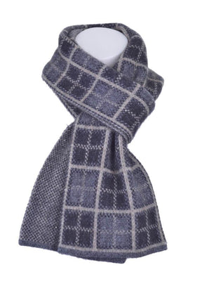 Charcoal Possum Merino Tartan Scarf Possum Accessories