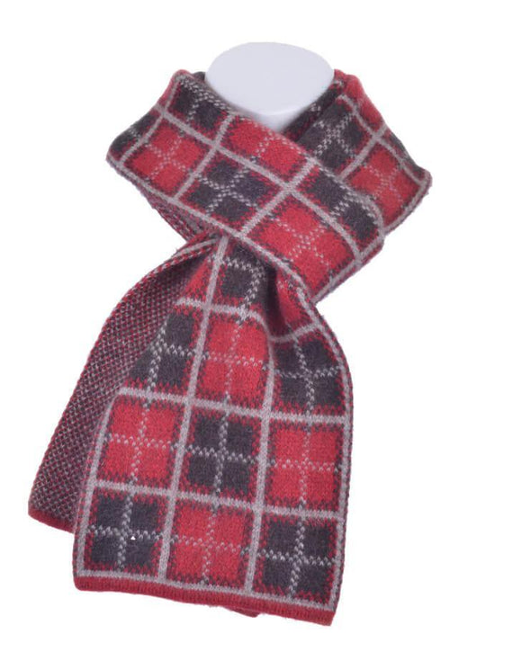 Red Possum Merino Tartan Scarf Possum Accessories