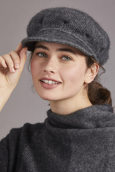 Pewter Possum Merino Soft Peak Hat