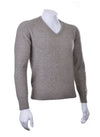 Mocha Plain Possum V Neck Jumper