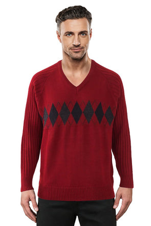 9333 Red - Tradewinds By Ansett Ansett Plain Knitwear